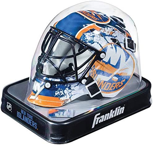 Franklin Sports NHL Team Logo Mini Hockey Goalie Mask with Case Collectible Goalie Mask with Official NHL Logos and Colors