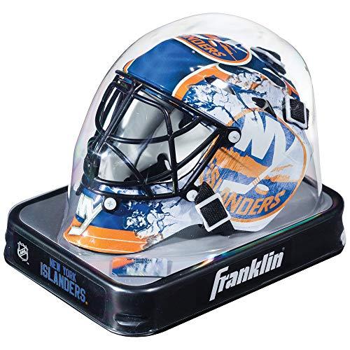 Franklin Sports Eishockey-Sammelartikel Torwart-Helm Mini, Design: Logo Einer NHL-Mannschaft, 7784F10, Navy, Einheitsgröße