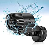AQQA Wave Maker Pump, 2100GPH Aquarium Circulation Pump 360 Degree Rotatable Submersible Powerhead Pump with Magnet Suction Base for Marine and Freshwater Aquariums Fish Tank