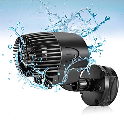 AQQA Wave Maker Pump, 2100GPH Aquarium Circulation Pump 360 Degree Rotatable Submersible Powerhead Pump with Magnet Suction Base for Marine and Freshwater Aquariums Fish Tank