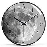Dkdnjsk Reloj de Pared de Estilo vórtice 3D, Reloj de Pared Home Sala de Estar Reloj Minimalista Dormitorio Silent Selly Sky Clockmodern Glass and Metal Wall Clock, Adecuado para el Museo