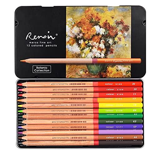Jsdrfgr 24/12/36/48/72/100/120 Color Lápiz de Aceite de Color Dibujo Dibujo Dibujo Color Lápiz (Color : 12 Oil Botanic)