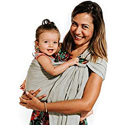 2ddd19a6587 This beautiful baby sling is made out of bamboo and linen and because of  that blend