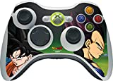 Skinit Decal Gaming Skin Compatible with Xbox 360 Wireless Controller - Officially Licensed Dragon Ball Z Dragon Ball Z Goku & Vegeta Design