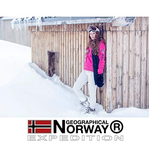 Geographical Norway BONAP MEN - Men's Warm Padded Jacket - Men's Winter Warm Lined Coat Jacket - Long Sleeve Windbreaker Jacket - Lightweight Fabric Quality Padding BLACK - L