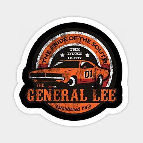 Vinyl Sticker for Cars, Trucks, Water Bottle, Fridge, Laptops The General Lee Stickers (3 Pcs/Pack)
