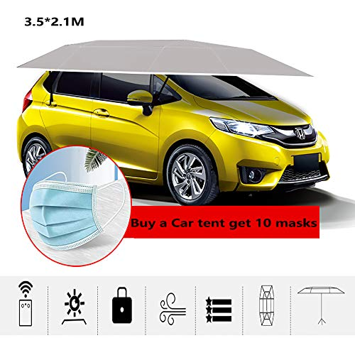 MAGO Four-Season Universal Fully-Automatic Folded Car Tent Cover Carport,Car Umbrella Tent Car Sunshade with Anti-UV Water-Proof Proof Wind Snow Storm Hail