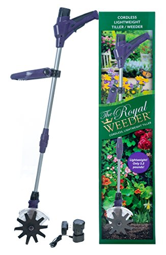 Review Of THE ROYAL WEEDER Lightweight Electric Tiller and Cultivator with Rechargeable Battery and ...