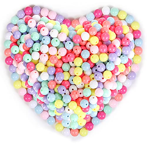 Annhao Colorato Acrilico Perle 200pcs 12mm Perline Artigianali Perline di Plastica per Creazione di Gioielli Fai da Te, Braccialetto per Bambini, Collana, Ciondolo,Oggettistica per la Casa,Bigiotteria