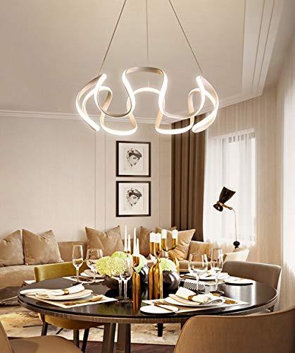 ZA Pendelleuchten Moderner LED-Esstisch Hängelampen Höhenverstellbare Eisenkunst Kronleuchter Schlafzimmer Esszimmer Wohnzimmer Deckenleuchte Hängelampe Innenbeleuchtung (weißes, Warmes Licht)
