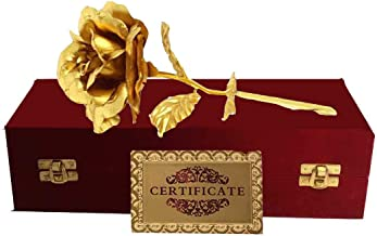 Odishabazaar Valentine Special Rose In 24k Gold with Exclusive Gift Box