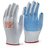 Colour: White with Blue Dot | Size: M - SIZE 8 | Amount: 10 Pairs | Type: Click 2000 Work warehouse Strong Knitted Garage | MPN: TRONIX