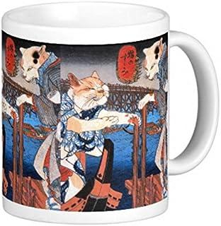 歌川国芳『 猫の涼み(ねこのすずみ)』のマグカップ:フォトマグ(浮世絵シリーズ)
