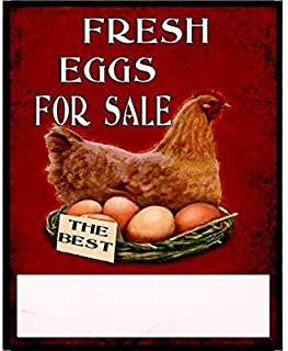 Destiny'S Stylish Vintage Fresh Eggs for Sale Vintage Metal TIN Sign Wall Plaque 8