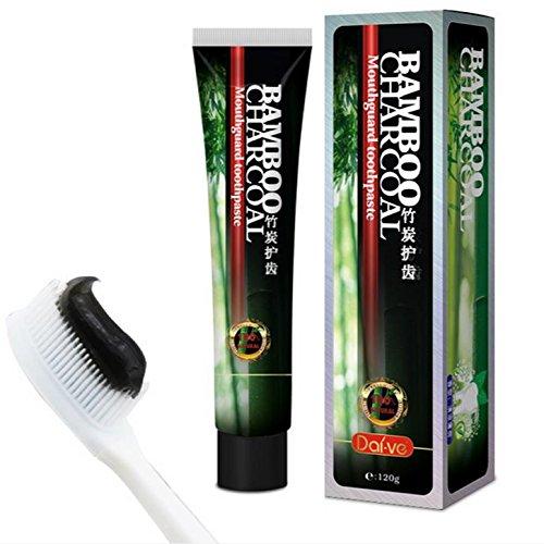 Bluelover Daive Attivo bambù Carbone Aloe Denti Sbiancamento Pulizia Dentifricio Alito Fresco