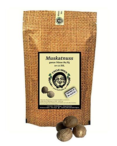 Uncle Spice Muskatnuss 10-12 Stk. ganze Muskatnüsse 80/85 mind. 60g – Premiumqualität - Karibische Gewürz-Spezialität handverlesen ohne künstliche Zusätze - Perfekt als Geschenk