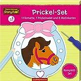Mein kleiner Ponyhof: Prickel-Set: 1 Filzmatte, 1 Prickelnadel und 8 Motivkarten