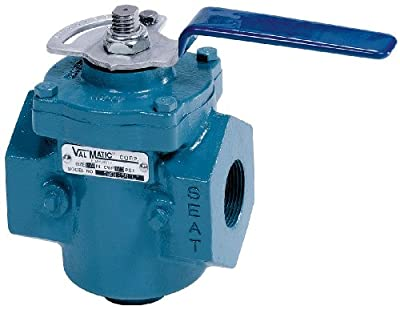 Plug Valve, 2 In, Lever Operated, CI from VAL-MATIC
