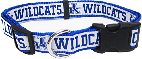 Pets First Collegiate Pet Accessories, Dog Collar, Kentucky Wildcats, Large