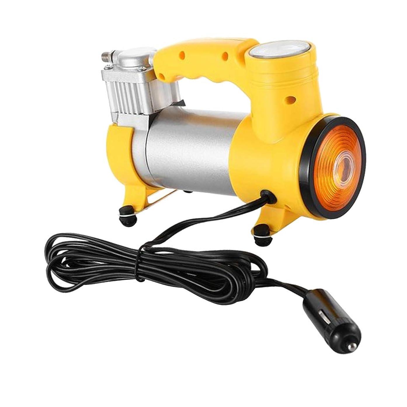 ウミウシ後方アレルギー性カー ボール おもちゃ用 タイヤインフレータ 小型 空気入れ エアポンプ 圧力計付き LEDライト付