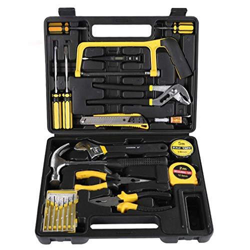 SEESEE.U Starter-Werkzeugset, Handwerkzeuge und 22-teiliges Wandbehang-Kit mit Schraubendreher, Drahtschneider für die Reparatur und Wartung von Haushalten in Einer Tragetasche, Haushaltswerkzeug-Kit