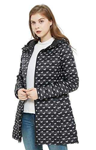 Damen Winterjacke Puffer Jacken für Frauen isoliert und wasserabweisend