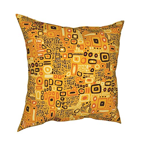 Fedso Soft Decorative Square Throw Pillow Cover Cushion Covers Pillowcase Klimt Pattern Home Decor for Sofa Couch Bed Chair 18x18 Inch/45x45 cm