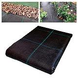 Seinec Malla Antihierbas Premium Negra 10m² (2 x 5m). Resistente a Roturas. con Protección UV para el Control de Maleza en Jardín y Huertos Ecológicos. Ocultación. Polipropileno (PP)