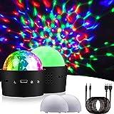 2 Mini Luz de Discoteca LED para Fiestas, Luz de Escenario Estroboscópica Activada por Sonido Recargable Aerbee RGB para la Fiesta de Cumpleaños Familiar KTV Kid