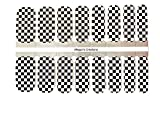 Checkered Racing Nail Polish Wraps - Nail Polish Strips