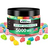 Premium Hemp Gummies Fancyli 5000mg-50mg Per Gummy-Made & Grown in USA- Organic Hemp Extract Infused - Relaxing, Pain Relief 100Sweet 12OZ