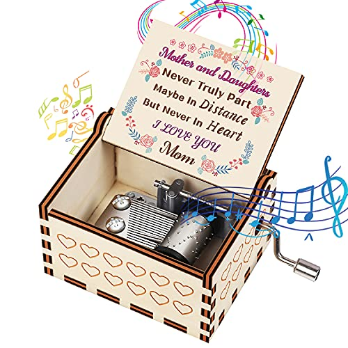BOOB to My Husband Music Box You are My Sunshine Theme Laser Engraved Wood Musical Box Hand Crank Antique Vintage Musical Box Gifts for Husband from Wife on Valentines Day Birthday