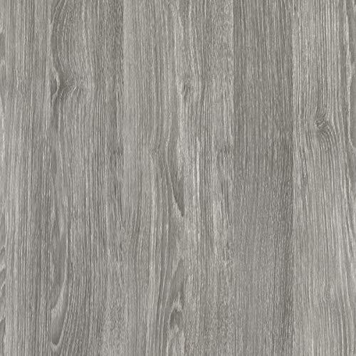 [19,98€/m²] Selbstklebende Folie in Holz-Optik AUF WUNSCHMAß inkl. Rakel & eBook mit Profi-Tipps I Klebefolie Eiche grau Holzdekor für Möbel & Küche – abwaschbar & hitzebeständig I Möbelfolie Holz
