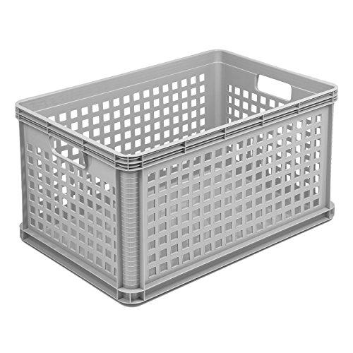 Cesta de almacenamiento OKT RobustoBasket, 64 l, gris claro