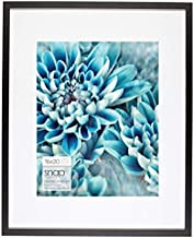 """Snap 16x20 Wall Mount Single Mat for 11x14 Photo Picture Frame, 16"""" x 20"""", Black"""