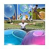 RUNYN Erstaunlicher Blasenball, Riesenblasenball mit Pumpe, Wassergefüllte interaktive Gummi Big...
