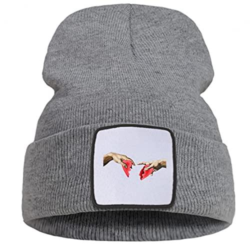 QiuFeng Gorro Beanie Hombres Unisex Beanies Beanie Hat Gorra de Punto de Moda Unisex Sombreros sin ala cálidos Gorras de Cobertura de Calle Gorro de Correr Informal Unisex
