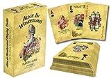 Creanoso Alice in Wonderland Literary Playing Cards (4 Decks) – Poker Size Standard Deck Cards for Blackjack, Euchre, Canasta, Pinochle Card Game, Casino Grade – Stocking Stuffers Gift