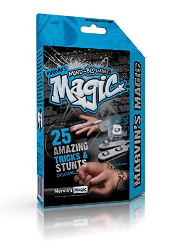Marvin`s Magic 54066 Zauberkasten Marvin`s unglaubliches magisches Themen Erstaunliche Tricks und Stunts, Komplettset für 25 Zaubertricks, Zauber Set für Magier ab 8 Jahre, Mehrfarbig