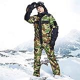 JJZZ Ropa de esquí Azul Mágico ImpermeableSnowboard Mono De Esquí De Una Pieza Hombres Snowboard30 Grados Traje De Esquí De Nieve Overol De Ropa De Invierno, L