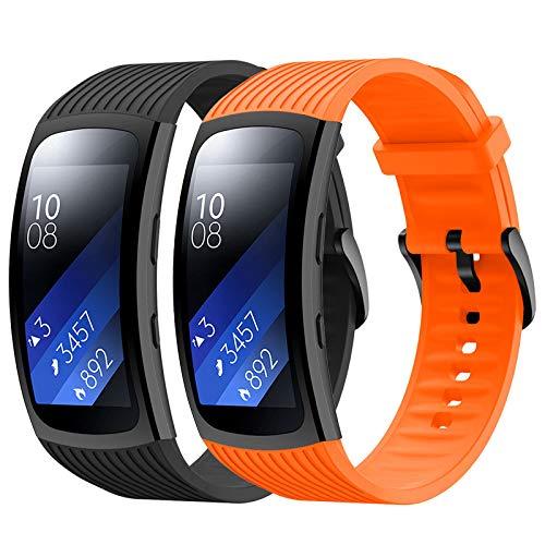 YPSNH Cinturino Gear Fit 2/Fit 2 PRO Cinturino di Ricambio in Silicone Braccialetto Sportivo per Samsung Gear Fit2 PRO SM-R365/Gear Fit2 SM-R360 Smartwatch