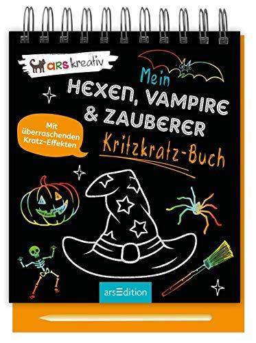Mein Kritzkratz-Buch Hexen, Vampire & Zauberer: Mit überraschenden Kratz-Effekten