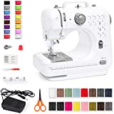Best Choice Products Compact Sewing Machine, 42-Piece Beginners Kit, Multifunctional Portable 6V Beginner Sewing Machine w/ 12 Stitch Patterns, Light, Foot Pedal, Storage Drawer - Teal/White