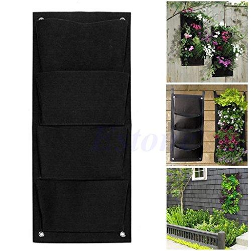 Cold Toy 4 Taschen-hängende vertikale Wand-Balkon-Kräutergarten-Pflanzer-Taschen im Freien Innen