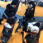ROODO Escort Pet Stroller Dog and cat pet Three-Wheeled cart - Lightweight, Compact, Portable, Practical, Removable, Change Color (Black special edition) 17