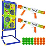 Trsmima Shooting Game Toy Set, Fun Kids Shooting Game with 2 Foam Ball Popper Air Toy Gun and...