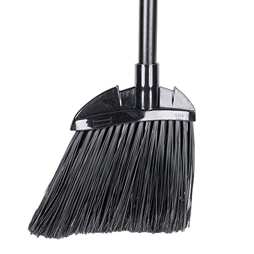 "Rubbermaid Commercial 6374 7-1/2"" Length x 2"" Width x 35"" Height, Black Color, Polypropylene Lobby Broom with Vinyl Coated Metal Handle"