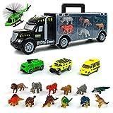 Dinosaurios Juguetes Camion Transportador-Animales Juguetes con Figuras Animales Coches de Juguetes Aviones de Juguete,Dinosaurios Jurassic World Navidad Regalos Juegos Juguetes Niños Niña 3 4 5 Años
