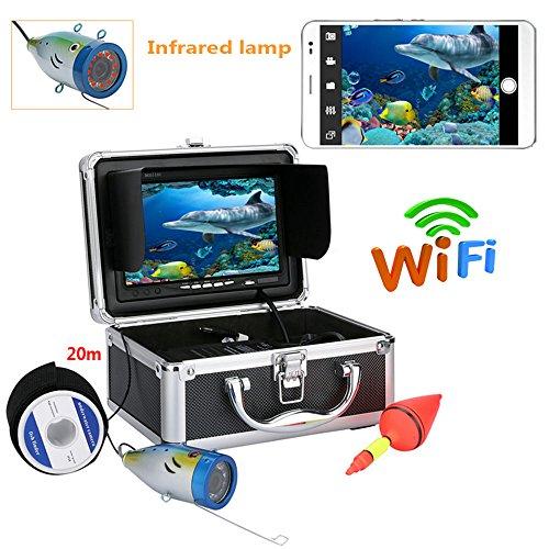 shengshiyujia Kit de cámara de Video de Pesca de 7 Pulgadas TFT 20M 1000tvl, HD WiFi inalámbrico para la aplicación de Android iOS Soporta grabación de Video y Toma de Fotos