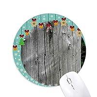クラックドトランク 圆形防滑橡胶圣诞铃铛鼠标垫